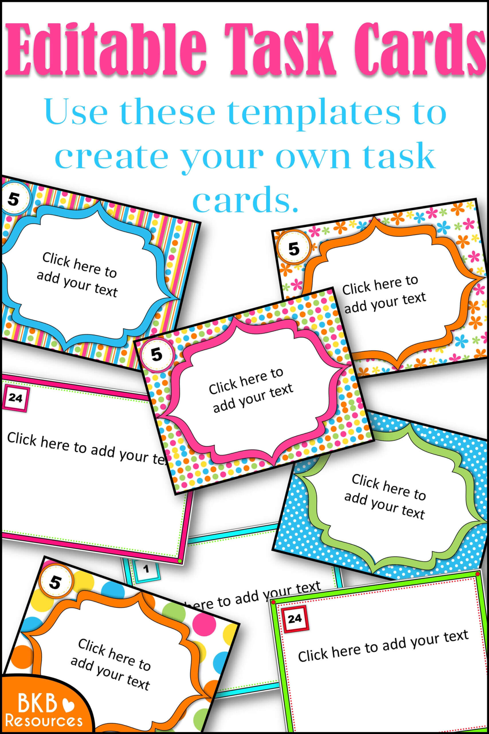Editable Task Card Templates - Bkb Resources Throughout Task Card Template