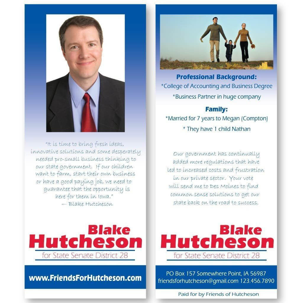 Election Flyer Template – Calep.midnightpig.co Throughout Push Card Template