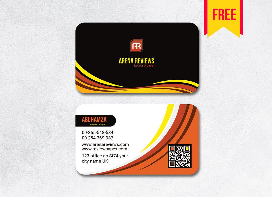 Elegant Business Card Template Free   Free Download Inside Download Visiting Card Templates