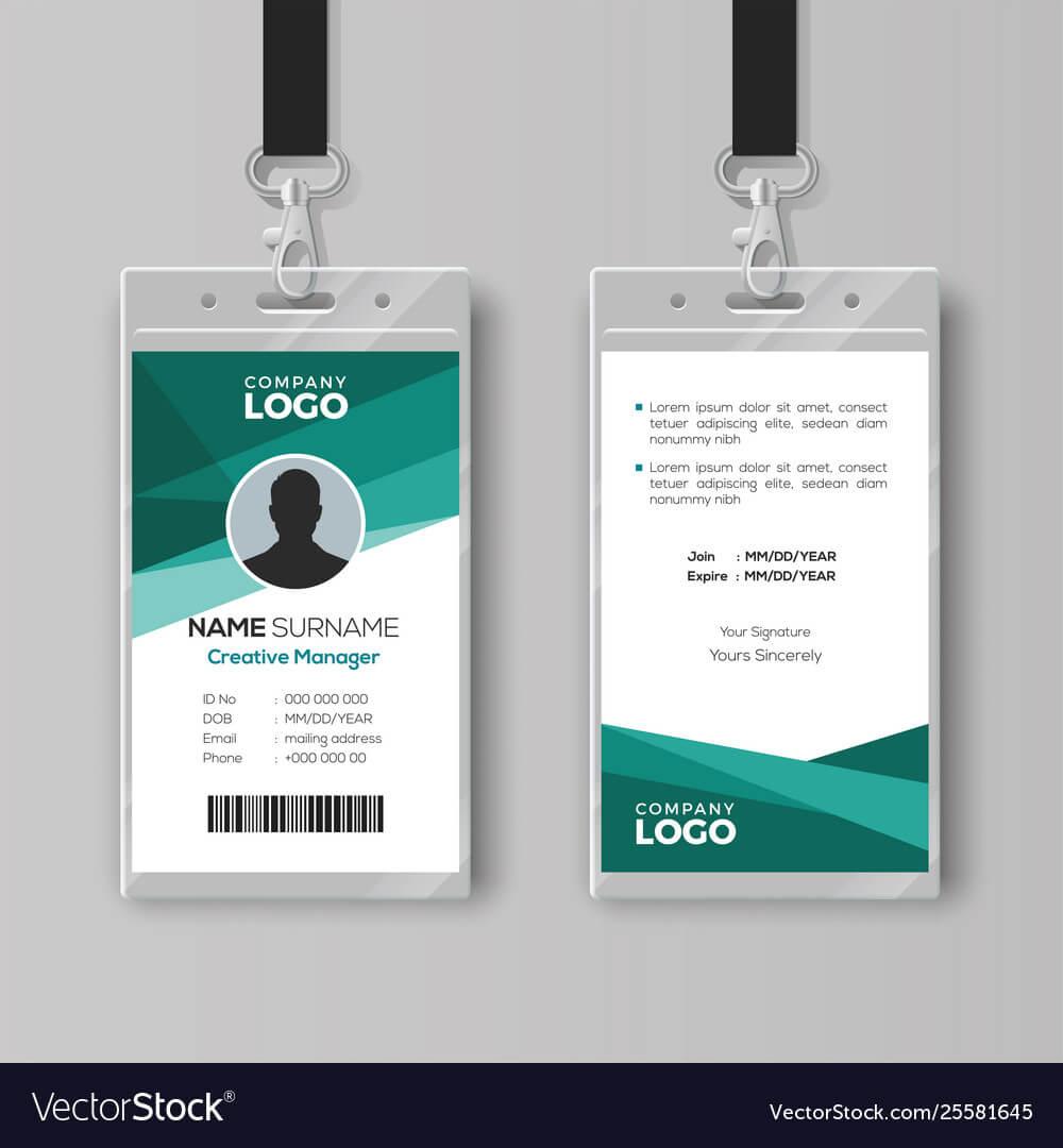 Elegant Id Card Design Template Regarding Id Card Template Ai