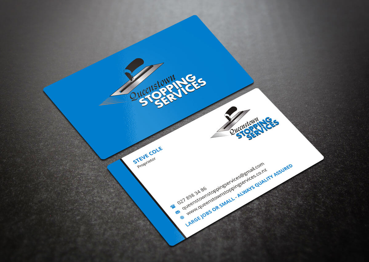 Elegant, Playful, Business Business Card Design For A In Plastering Business Cards Templates