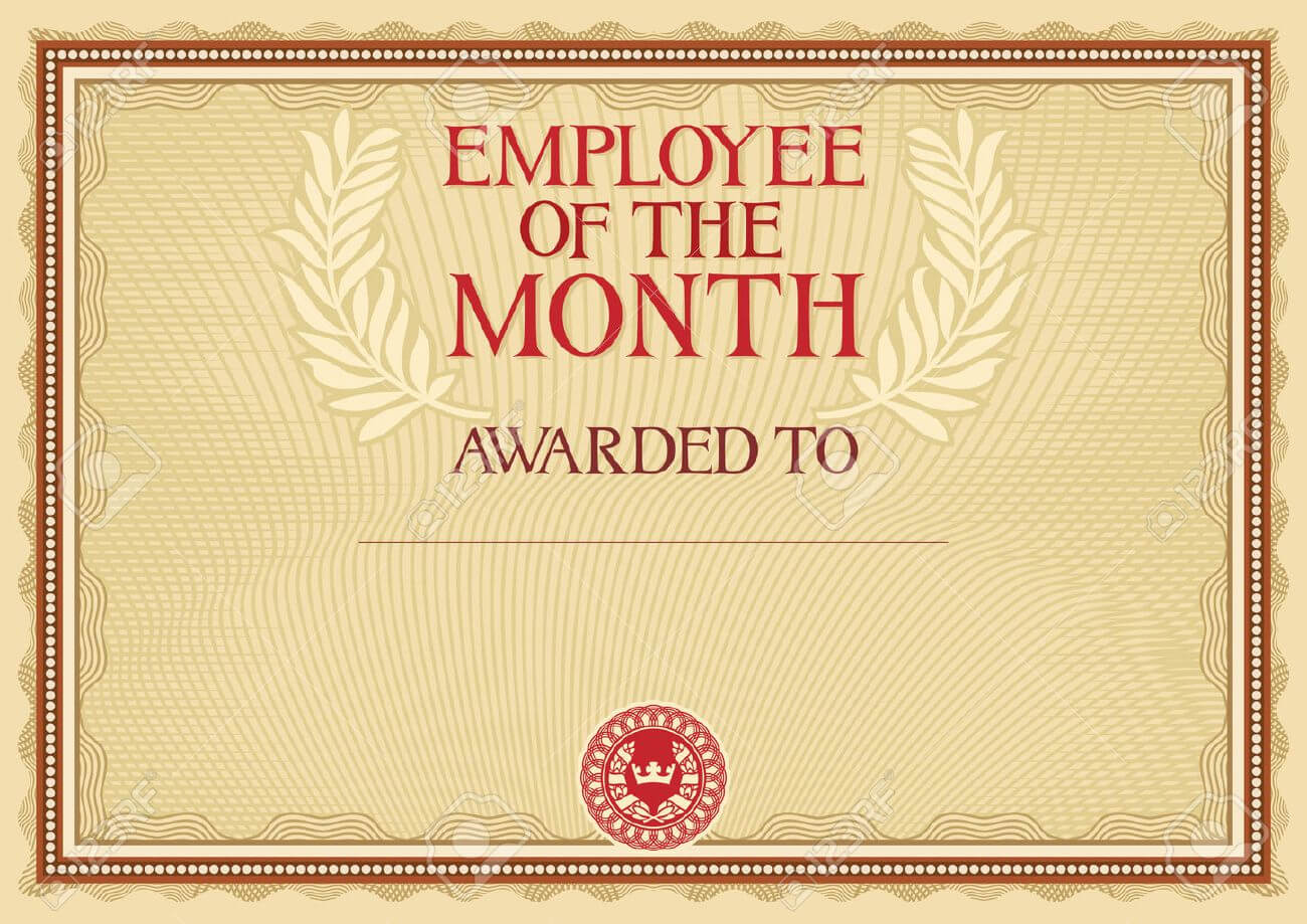 Employee Of The Month – Certificate Template Inside Manager Of The Month Certificate Template