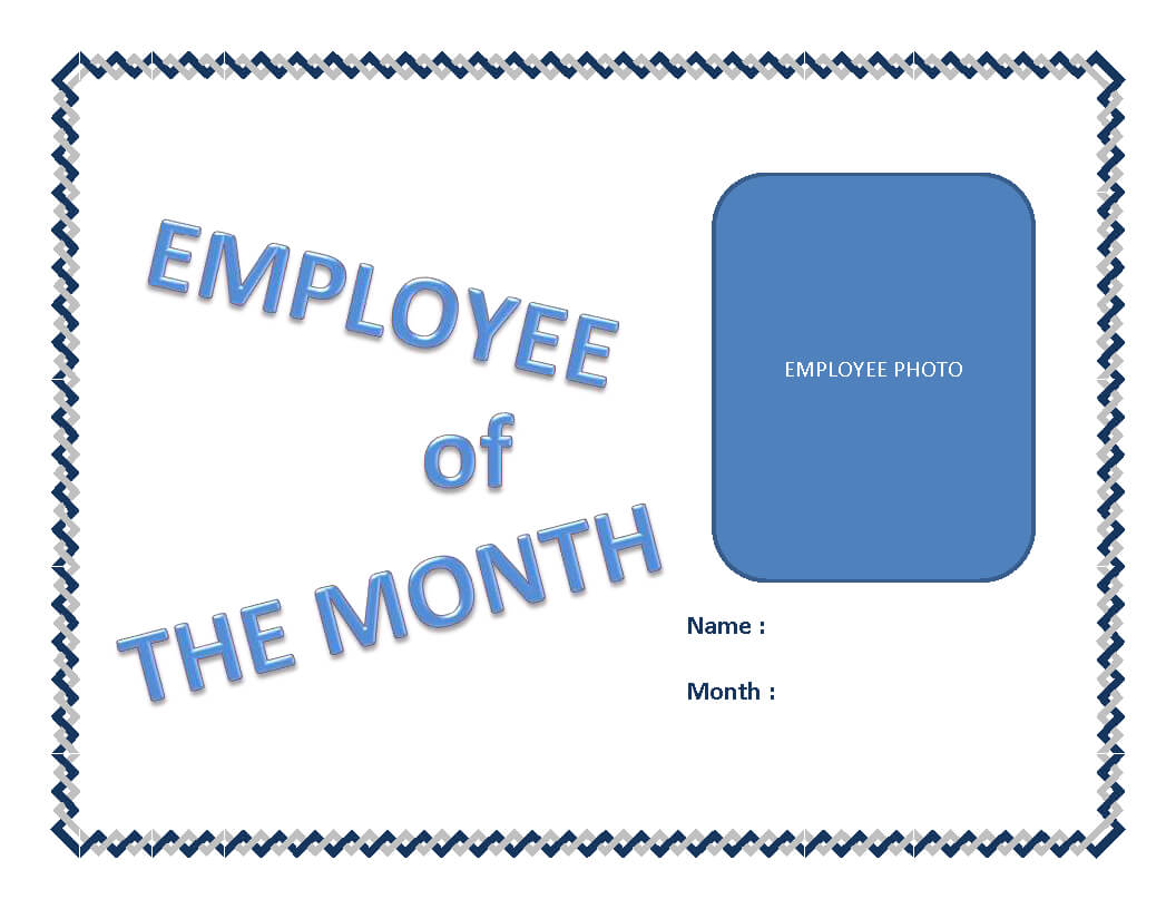 Employee Of The Month Certificate Template   Templates At Regarding Manager Of The Month Certificate Template