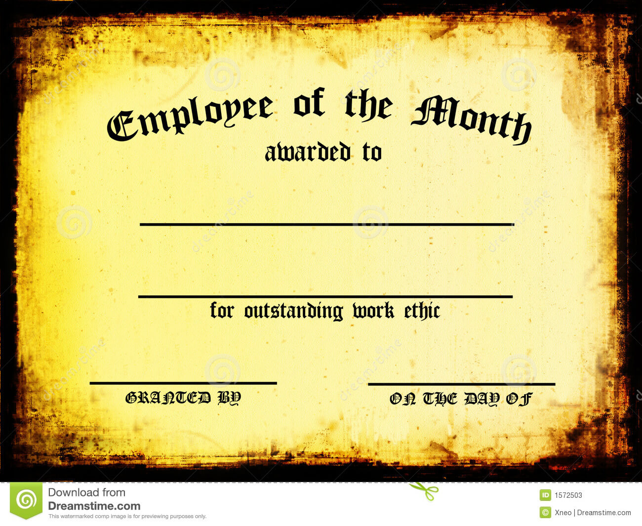 Employee Of The Month Stock Illustration. Illustration Of Regarding Manager Of The Month Certificate Template