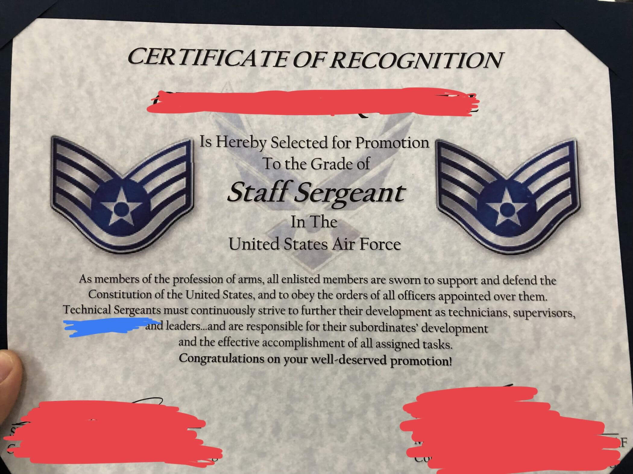 Excited For My Promotion To Sta— Uhh : Airforce With Officer Promotion Certificate Template