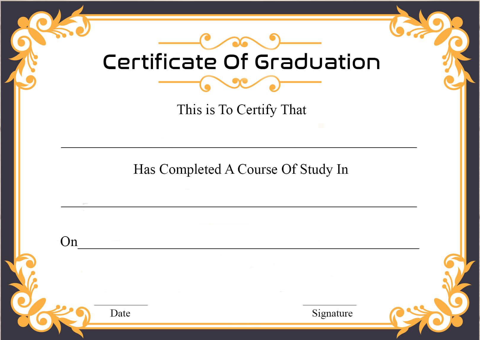 🥰free Certificate Template Of Graduation Download🥰 Regarding Graduation Certificate Template Word