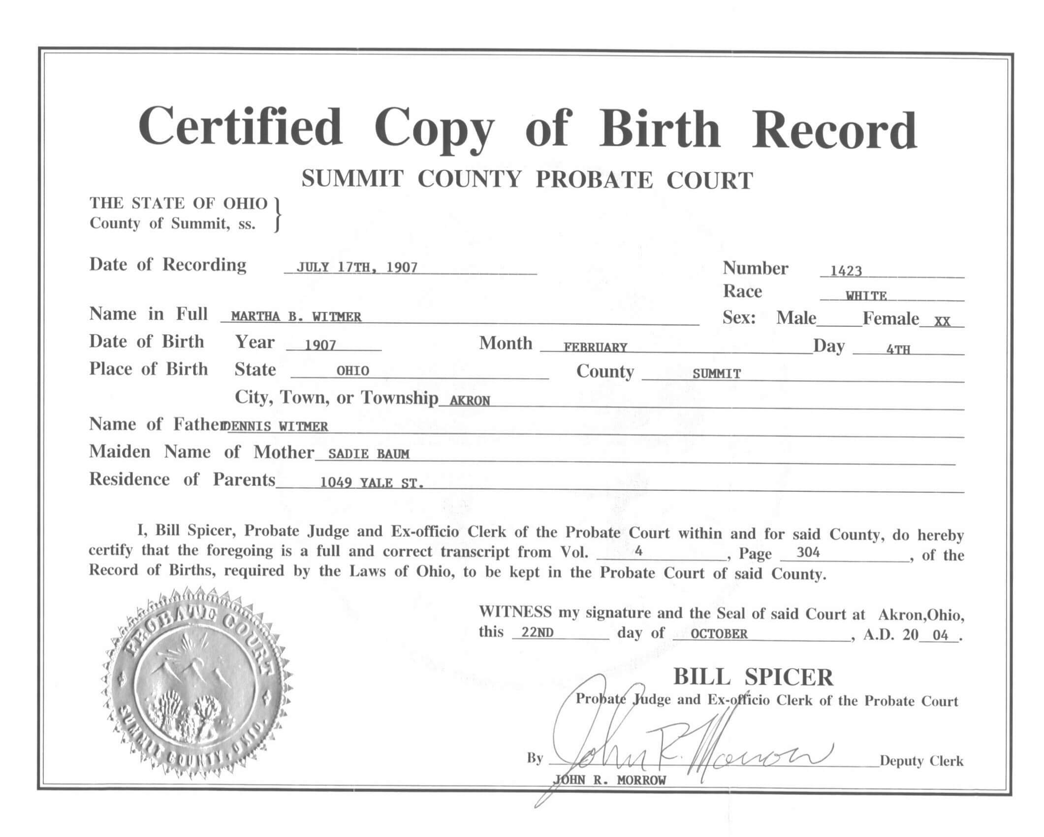 🥰free Printable Certificate Of Birth Sample Template🥰 Pertaining To Novelty Birth Certificate Template