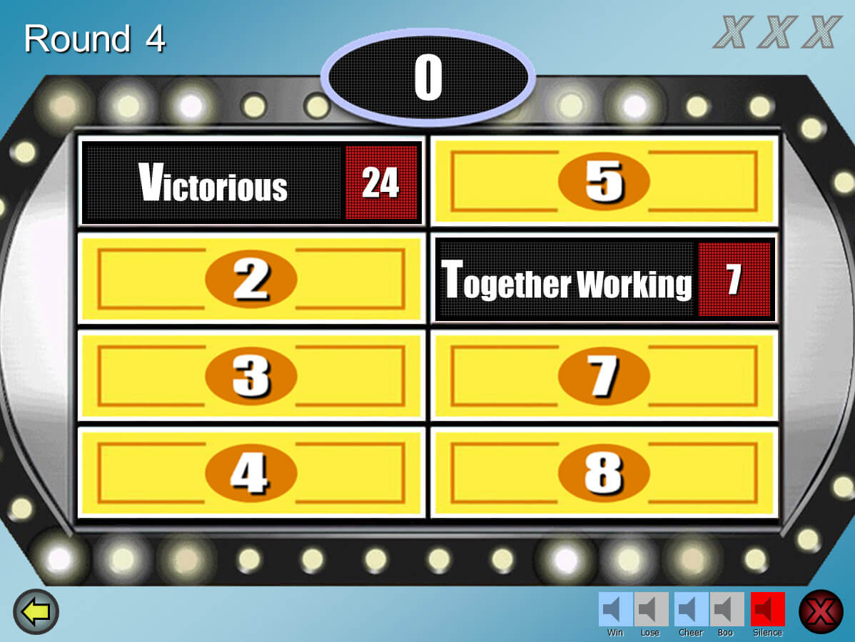 Family Feud Customizable Powerpoint Template - Youth Inside Family Feud Game Template Powerpoint Free