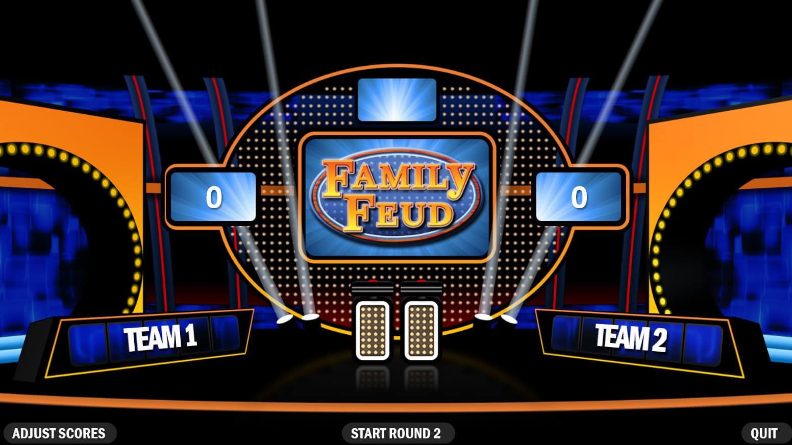 Family Feud Powerpoint Template Free Download - Calep Within Family Feud Game Template Powerpoint Free