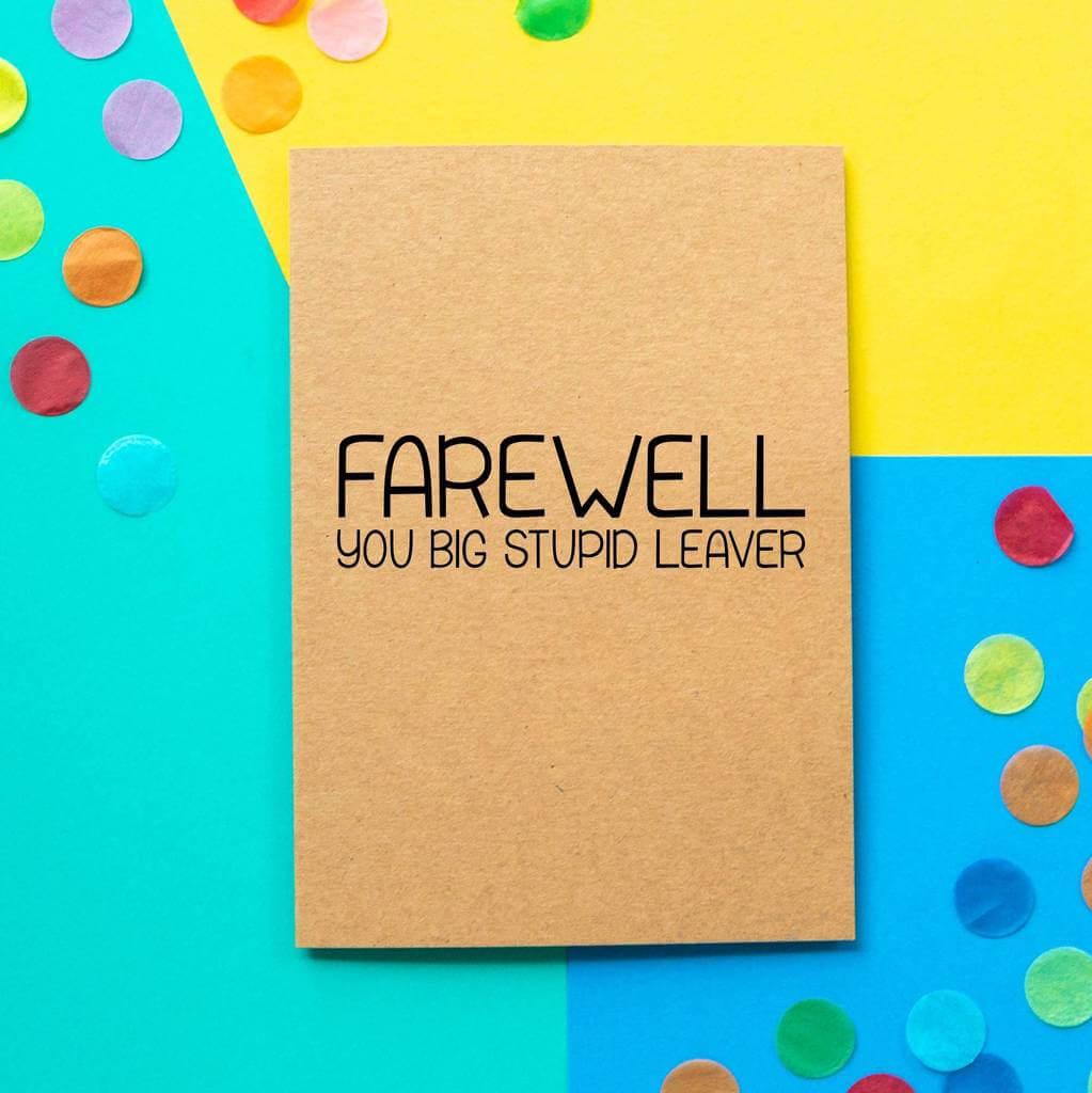 farewell card  calepmidnightpigco throughout goodbye