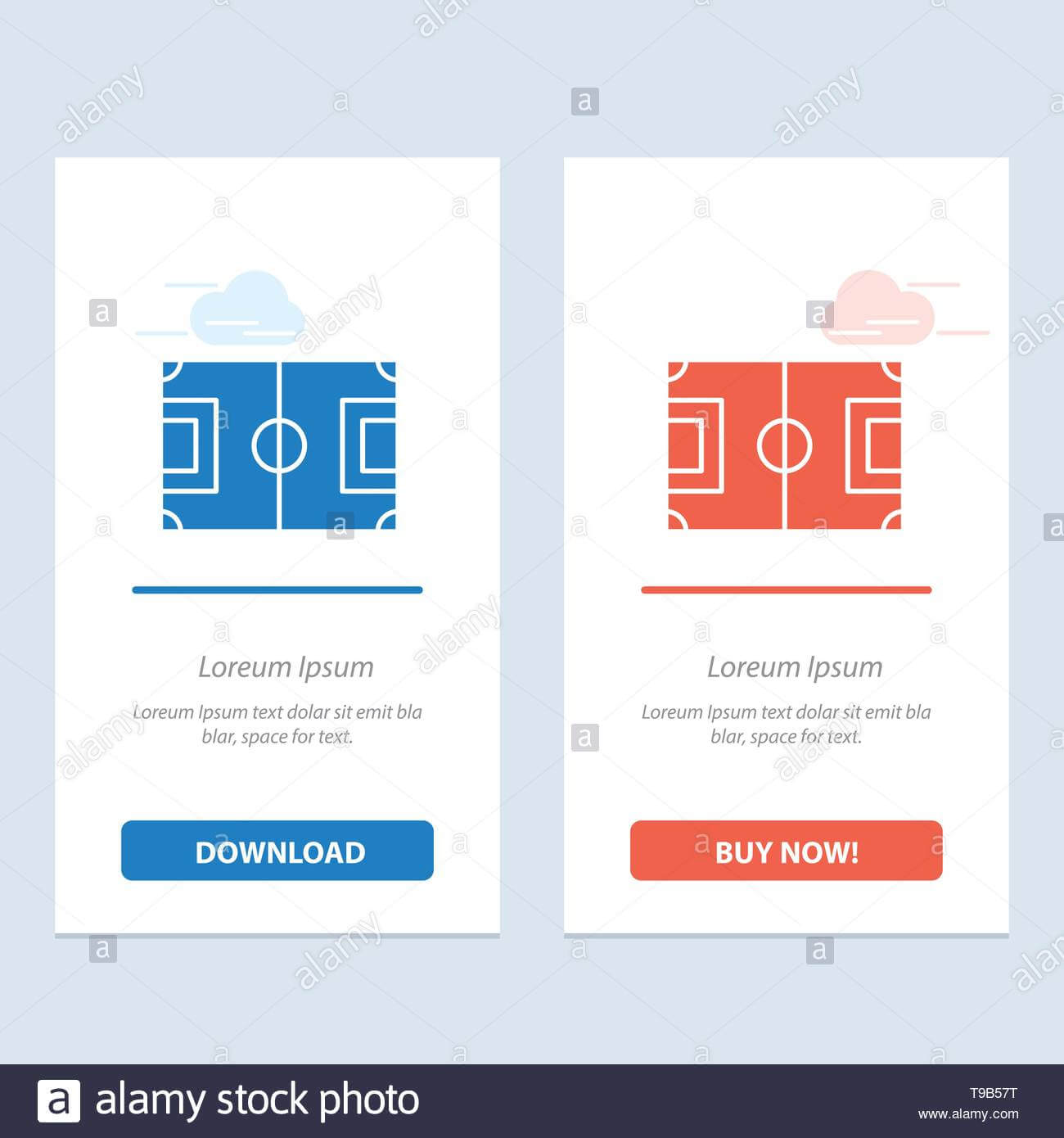 Field, Football, Game, Pitch, Soccer Blue And Red Download With Regard To Soccer Referee Game Card Template