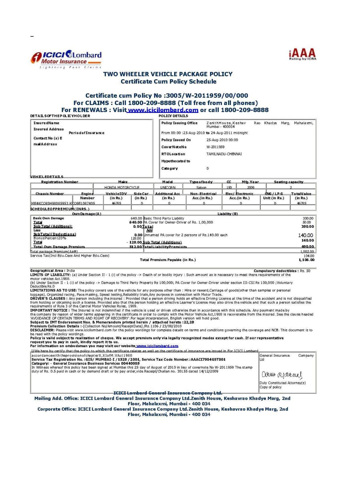File:vehicle Insurance Certificate In India.pdf ...