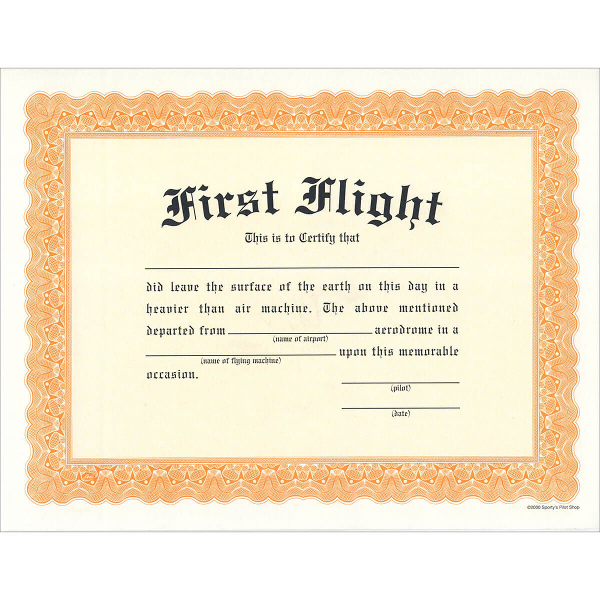 First Flight Certificate With Fit To Fly Certificate Template