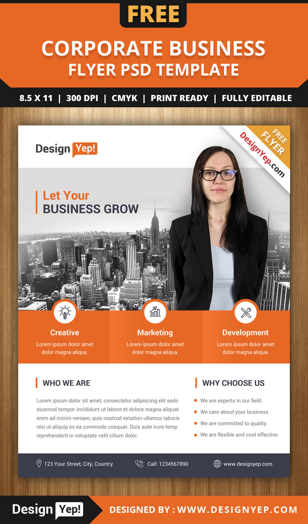 Flyer Lates Free Psd Business Brochure Photoshop Download Throughout Free Church Brochure Templates For Microsoft Word