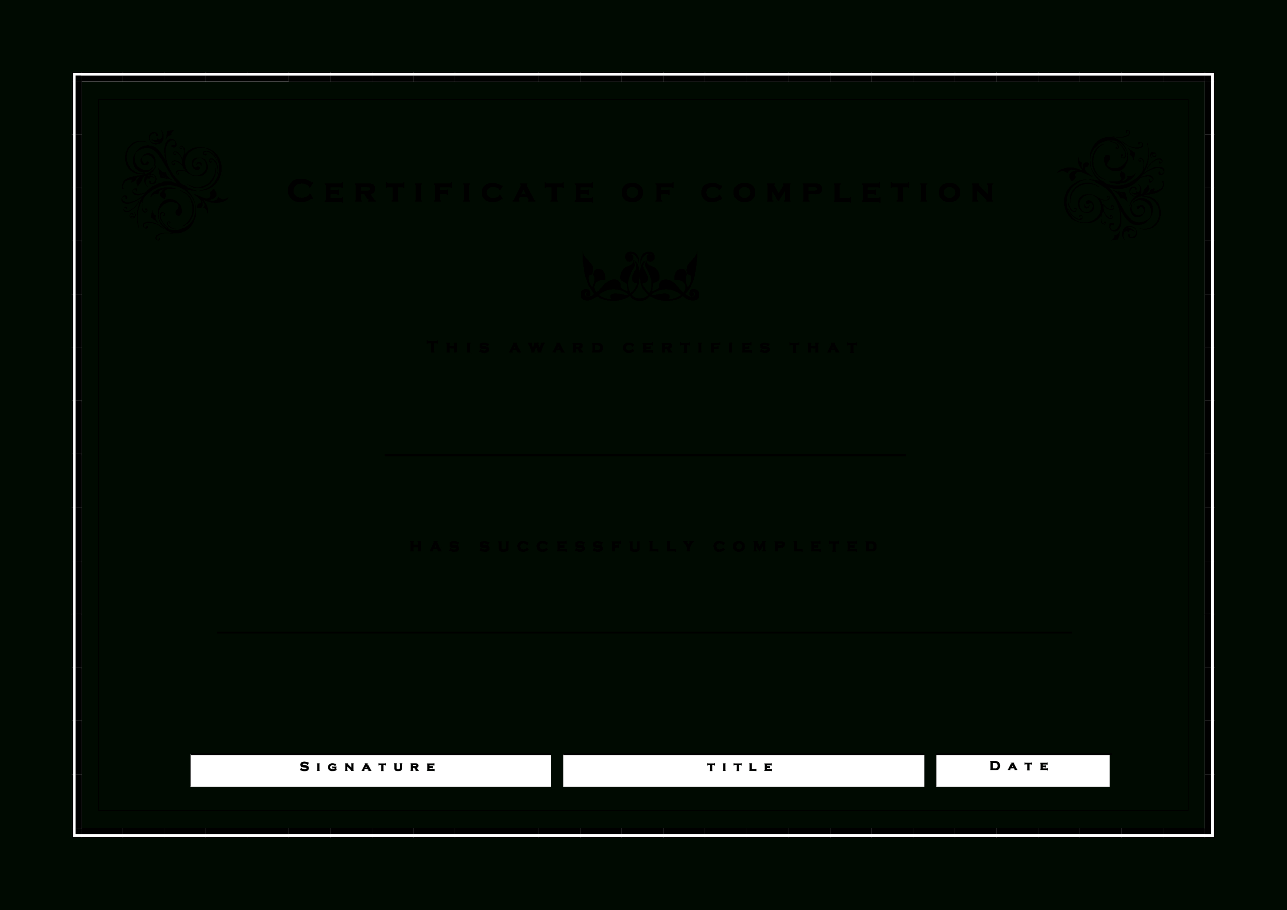 Formal Certificate Of Completion | Templates At For Certificate Of Compliance Template