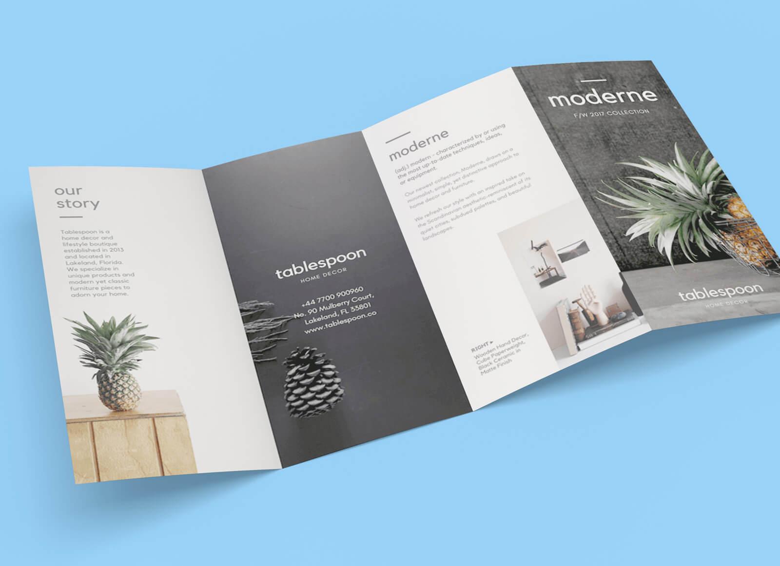 Free 4 Panel Quad Fold Brochure Mockup Psd - Good Mockups Pertaining To Quad Fold Brochure Template