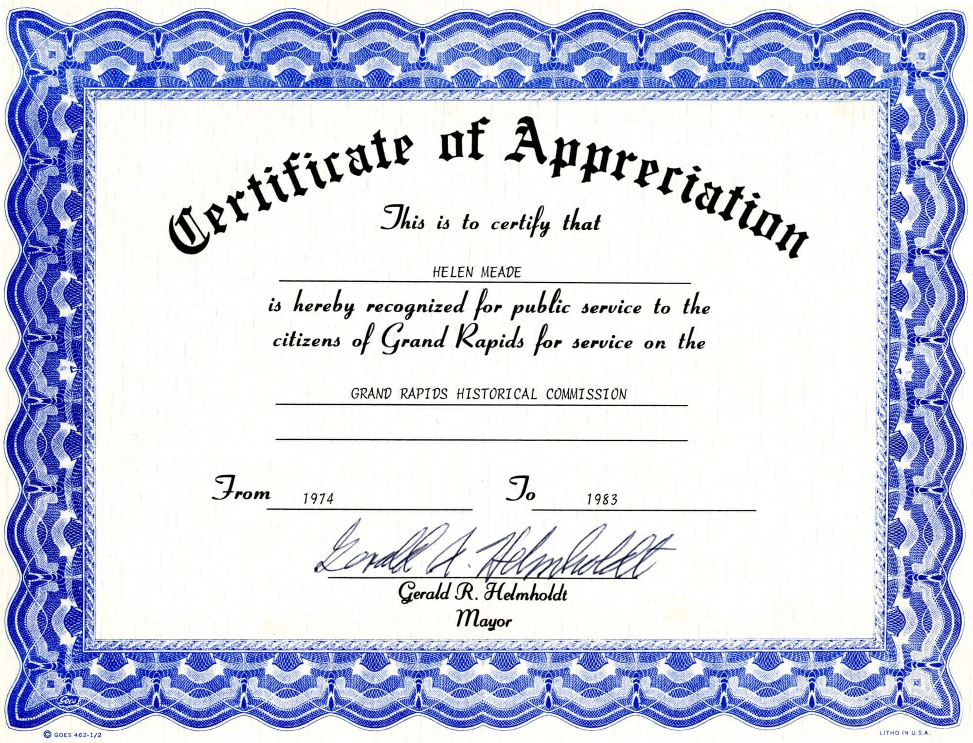 Free Appreciation Certificate - Calep.midnightpig.co Inside Blank Certificate Templates Free Download