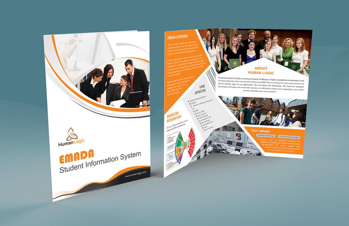 Free Bi Fold Brochure Psd On Behance In Two Fold Brochure Template Psd