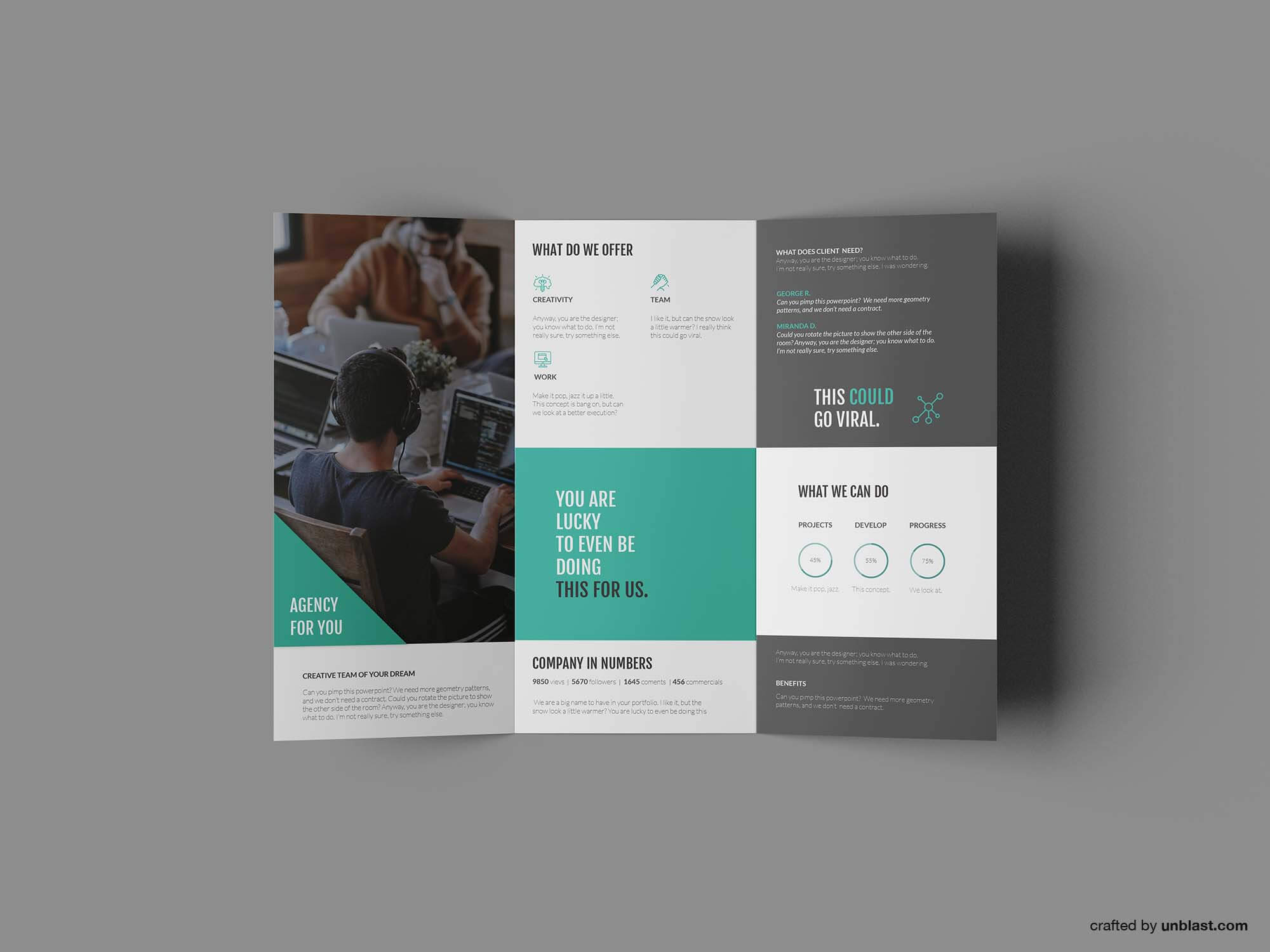 Free Business Trifold Brochure Template (Ai) In Free Tri Fold Business Brochure Templates