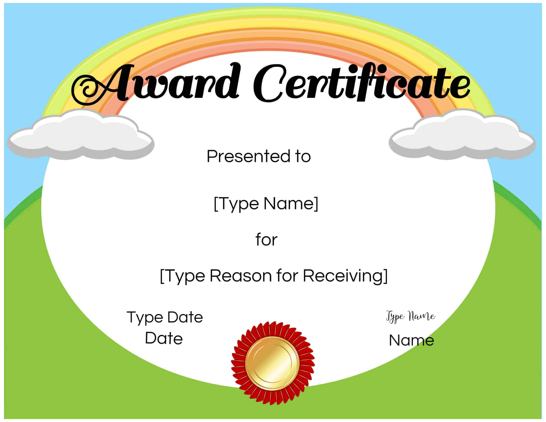 Free Certificate Templates For Kids - Calep.midnightpig.co For Free Printable Graduation Certificate Templates