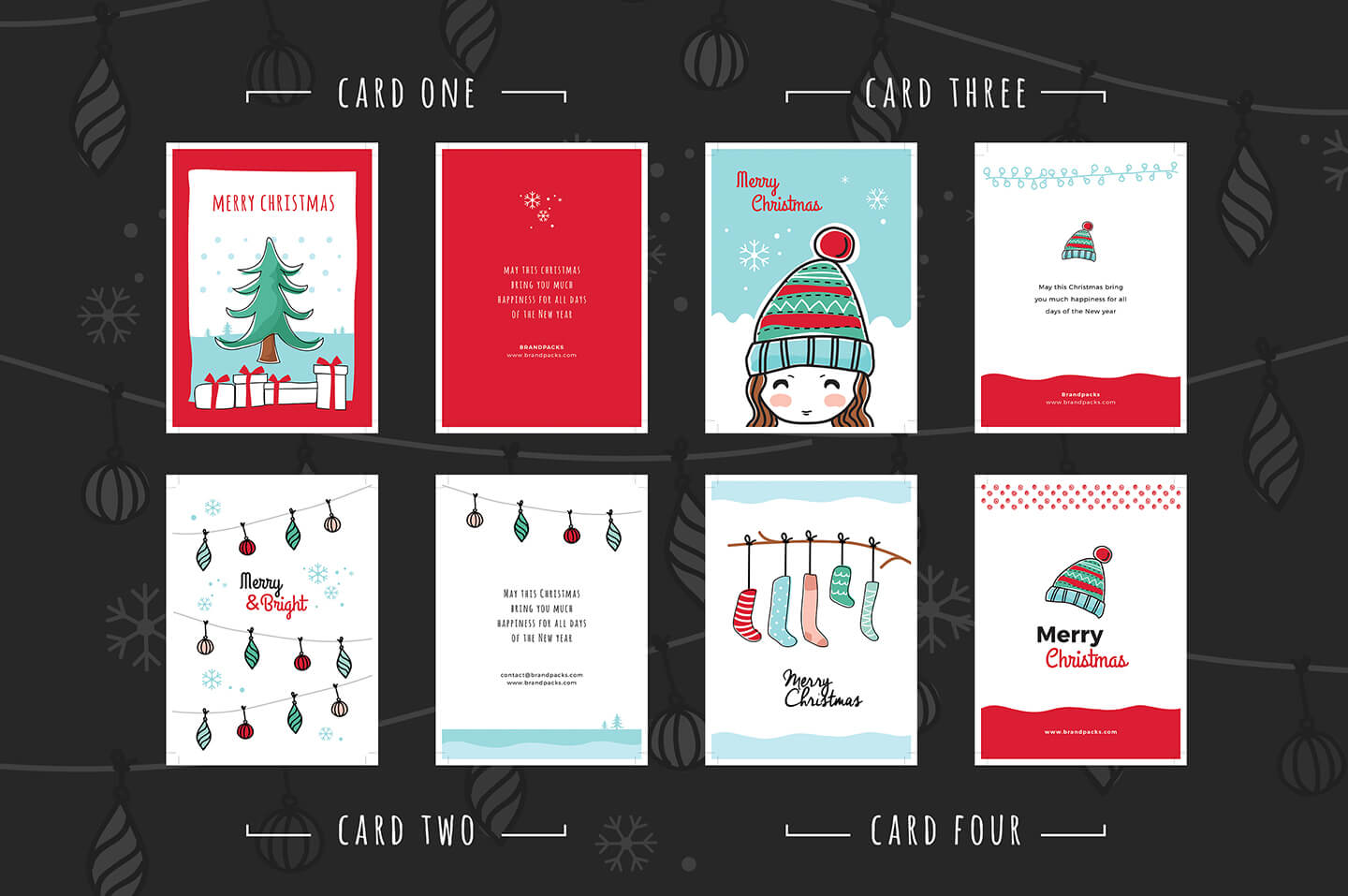 Free Christmas Card Templates For Photoshop & Illustrator Regarding Free Christmas Card Templates For Photoshop