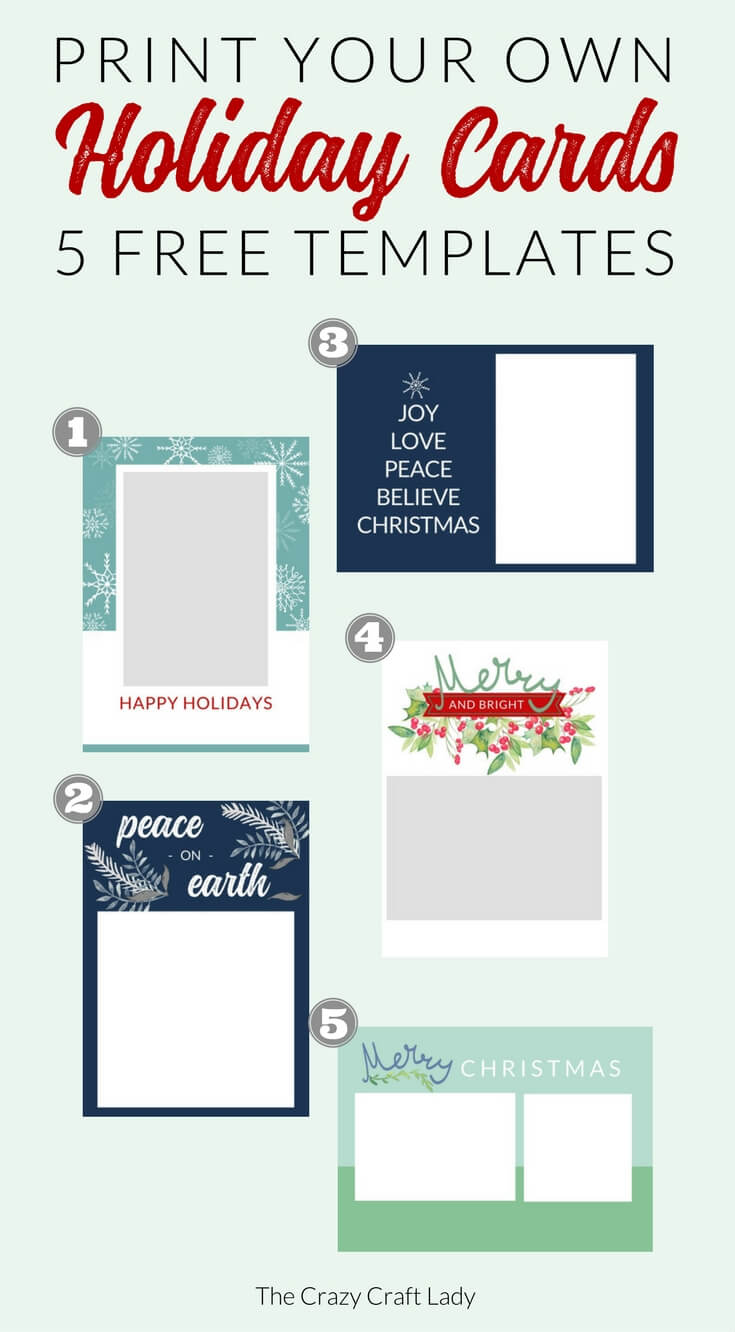 Free Christmas Card Templates - The Crazy Craft Lady Throughout Template For Cards To Print Free