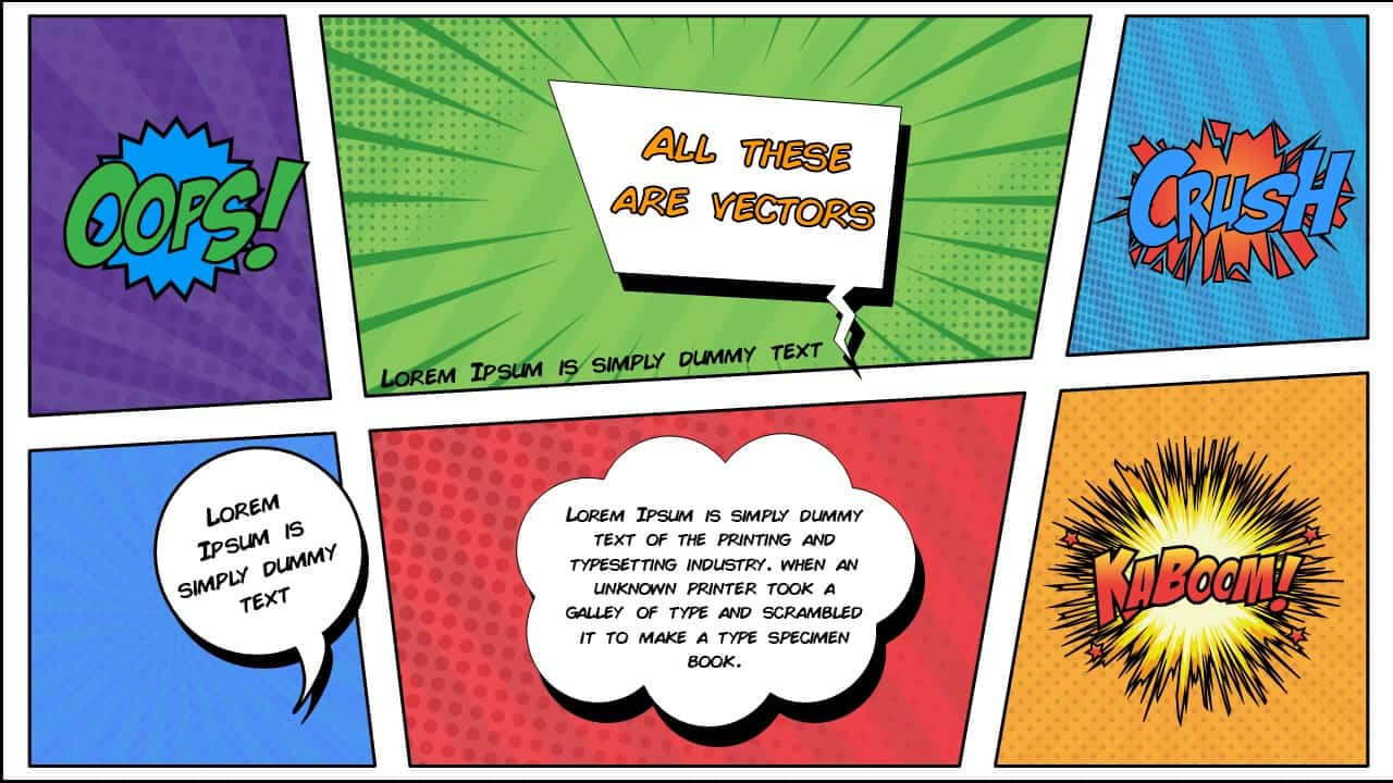 Free Comic Book Powerpoint Template For Download | Slidebazaar With Comic Powerpoint Template