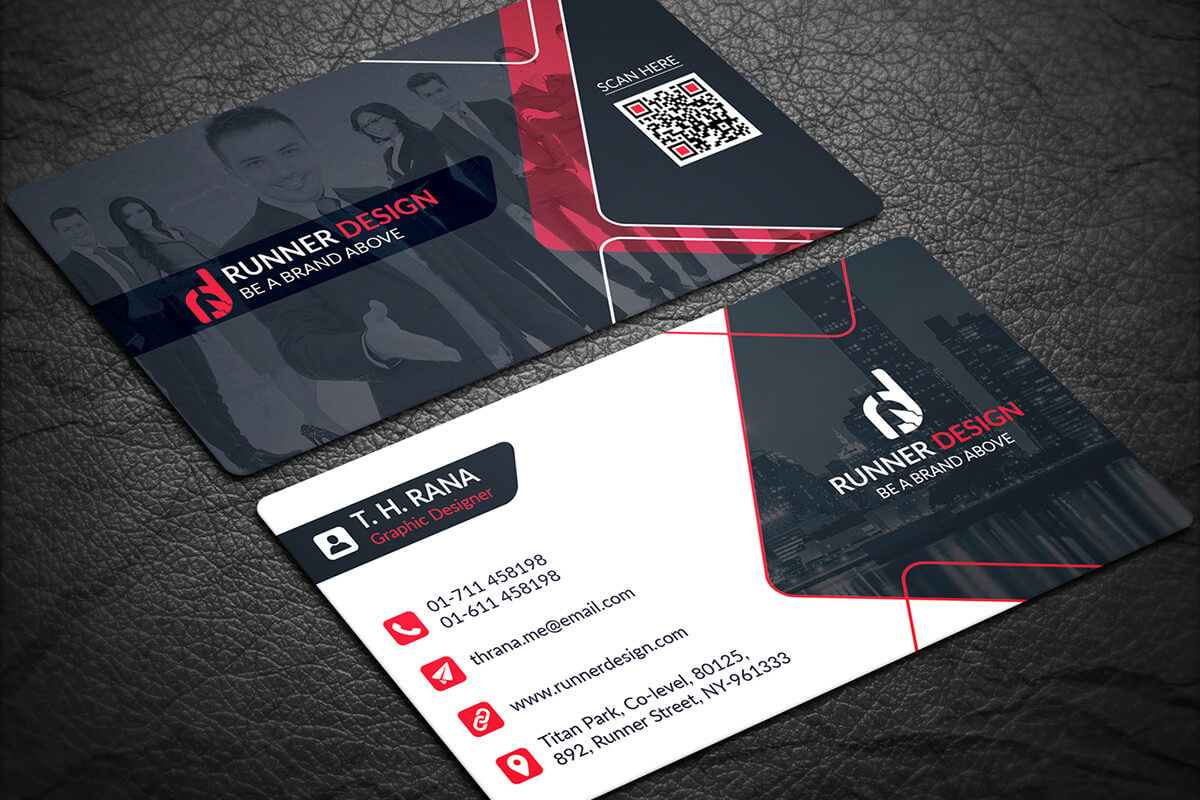 Free Download Business Card Design Psd - Yeppe With Visiting Card Psd Template Free Download