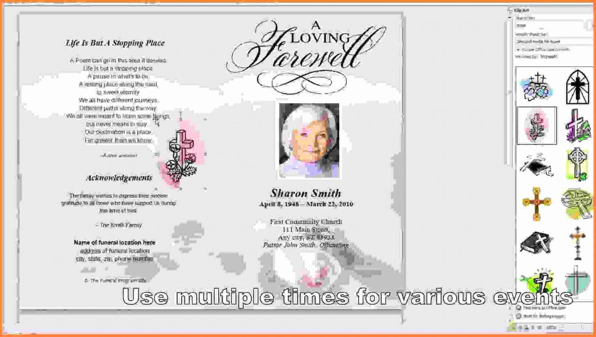 Free Funeral Cards - Calep.midnightpig.co With Regard To Memorial Cards For Funeral Template Free