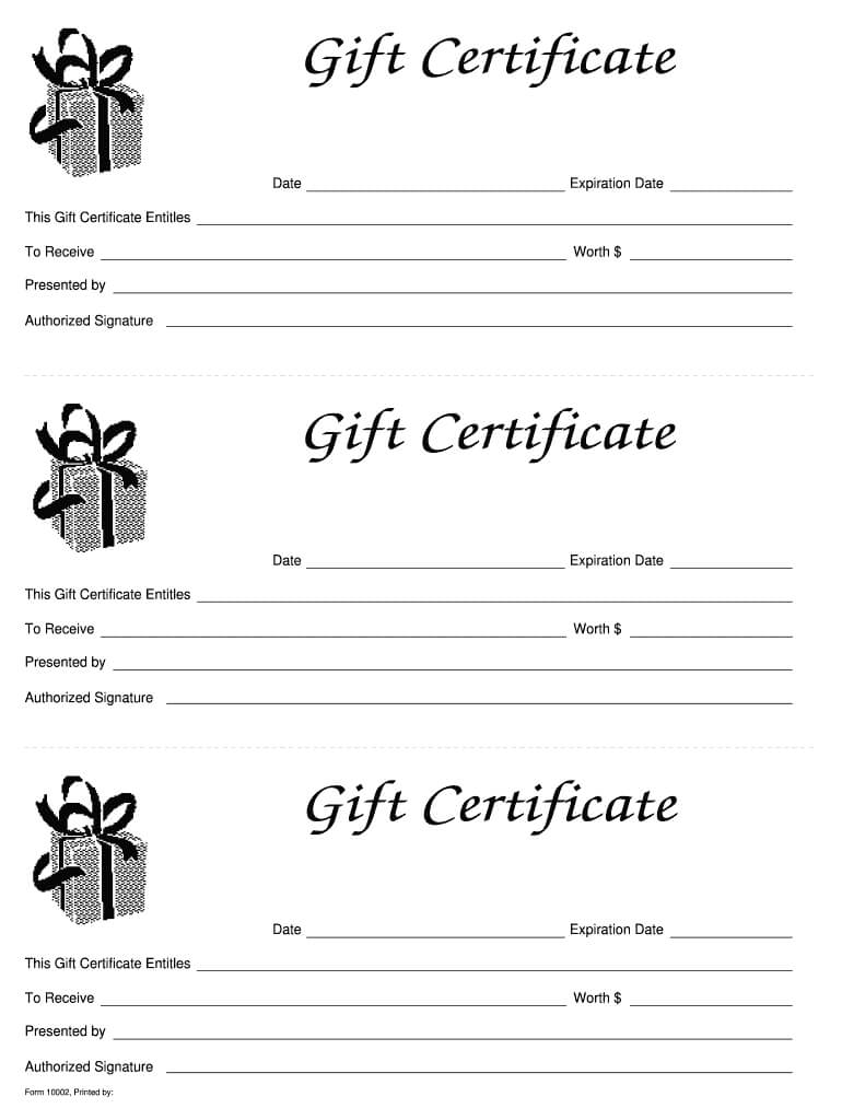 Free Gift Certificate Templates Printable - Calep.midnightpig.co With Regard To Fillable Gift Certificate Template Free