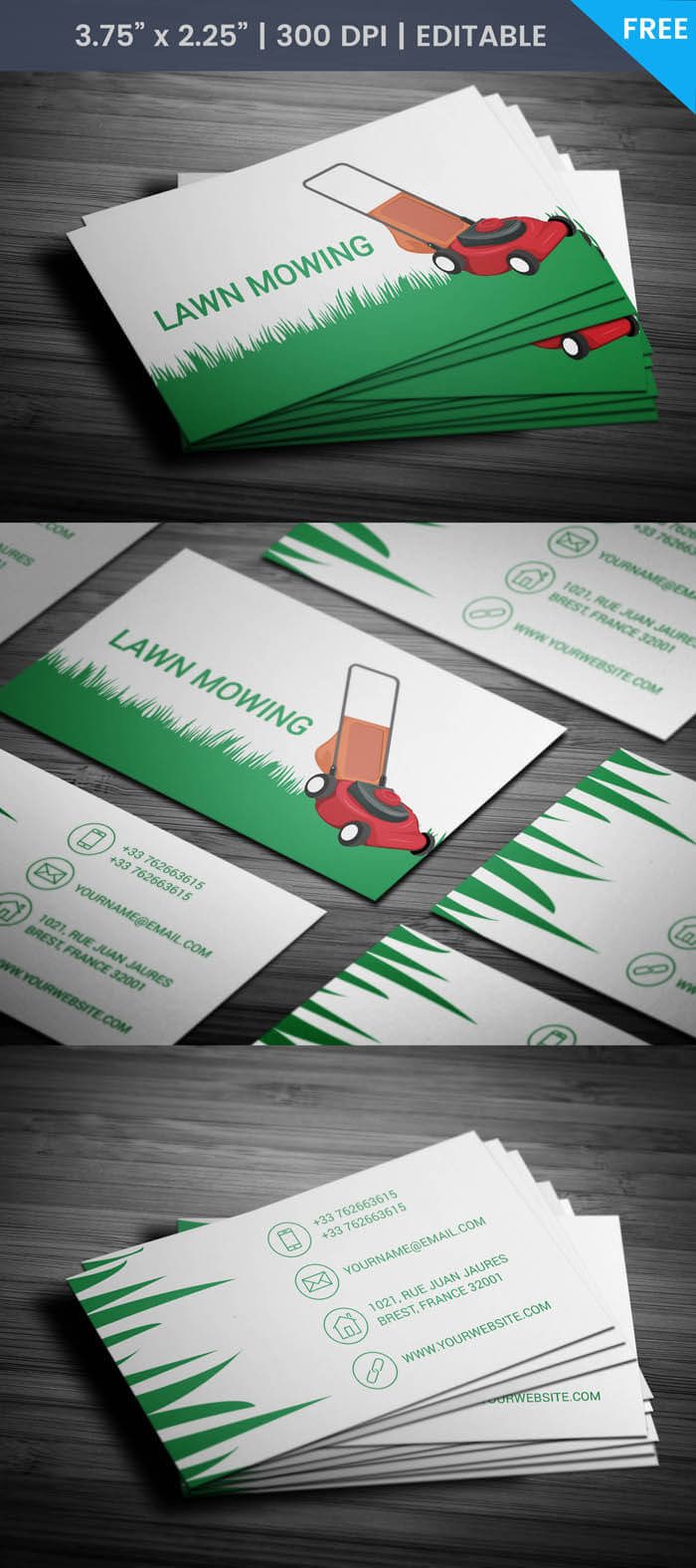 Lawn Care Business Cards Templates Free - Professional ...