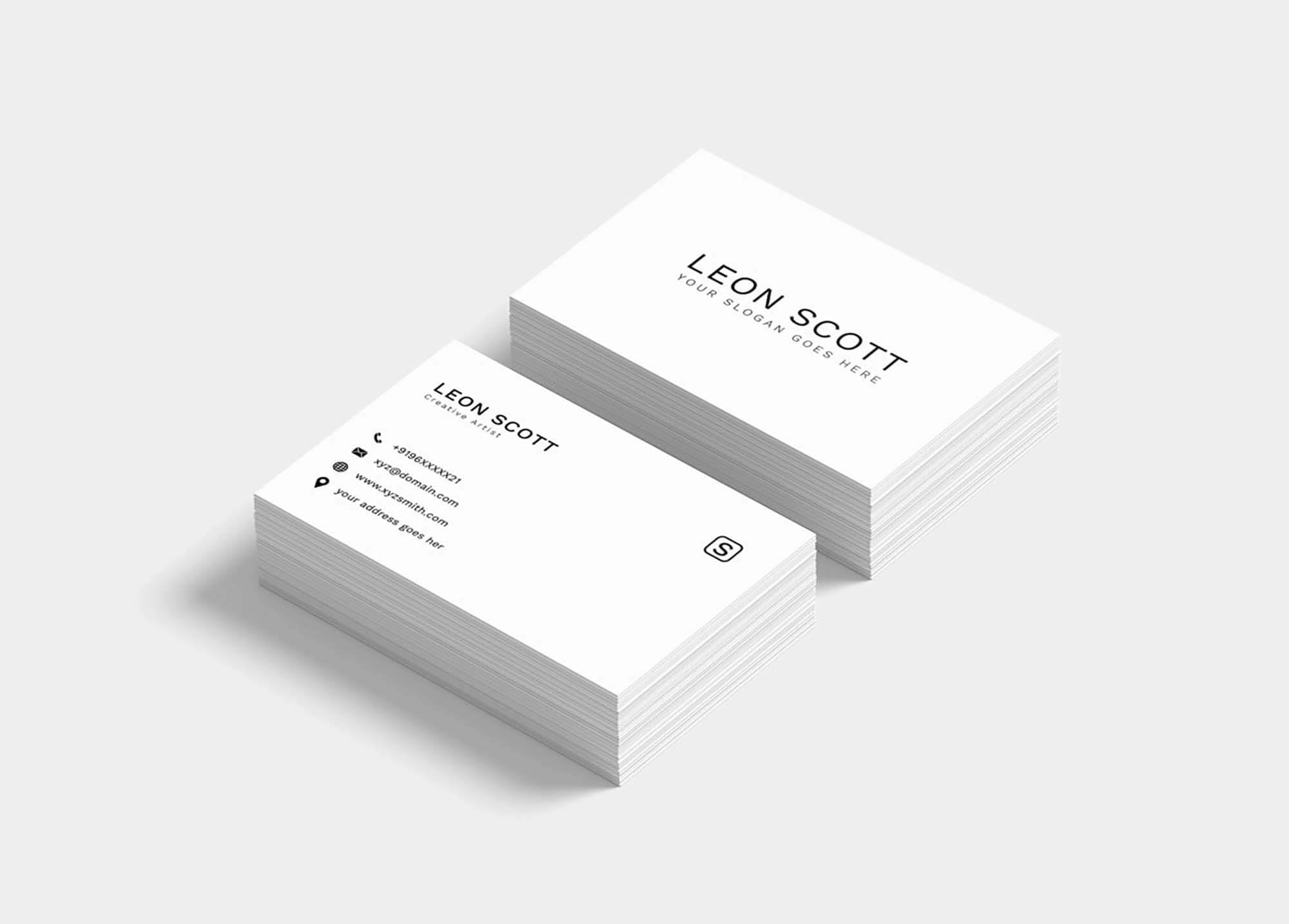 Free Minimal Elegant Business Card Template (Psd) With Free Business Card Templates In Psd Format