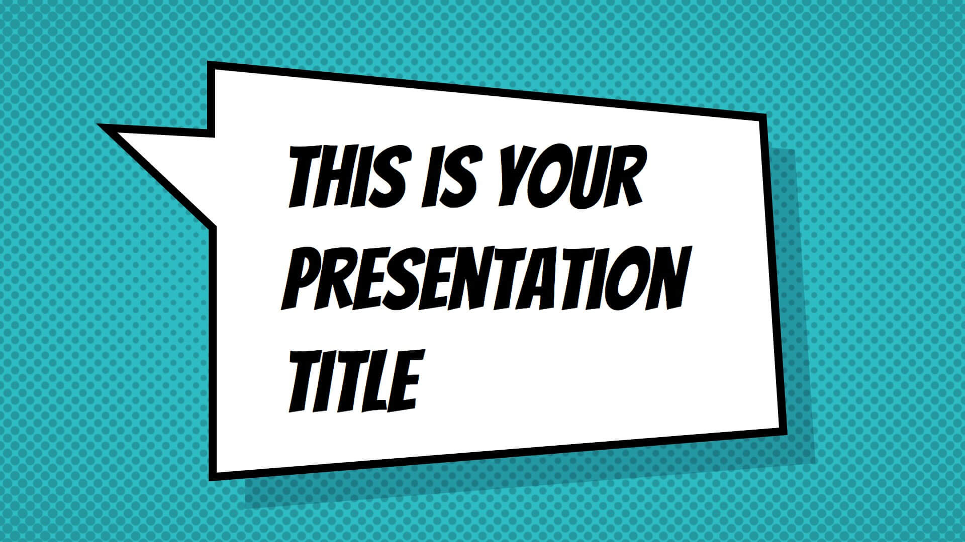 Free Powerpoint Template Or Google Slides Theme With Inside Comic Powerpoint Template