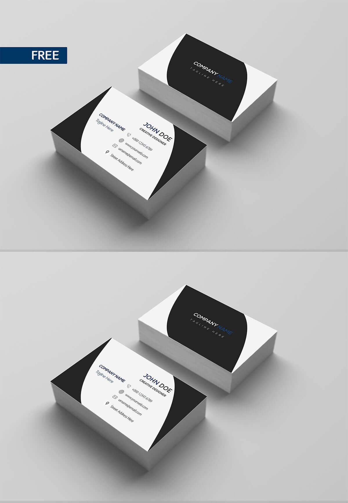Free Print Design Business Card Template – Creativetacos Throughout Photoshop Cs6 Business Card Template