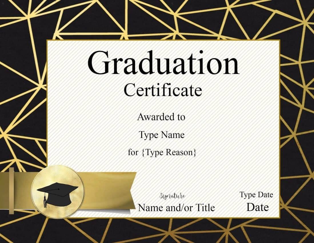 Free Printable Graduation Certificate Templates ] - Free With Graduation Gift Certificate Template Free