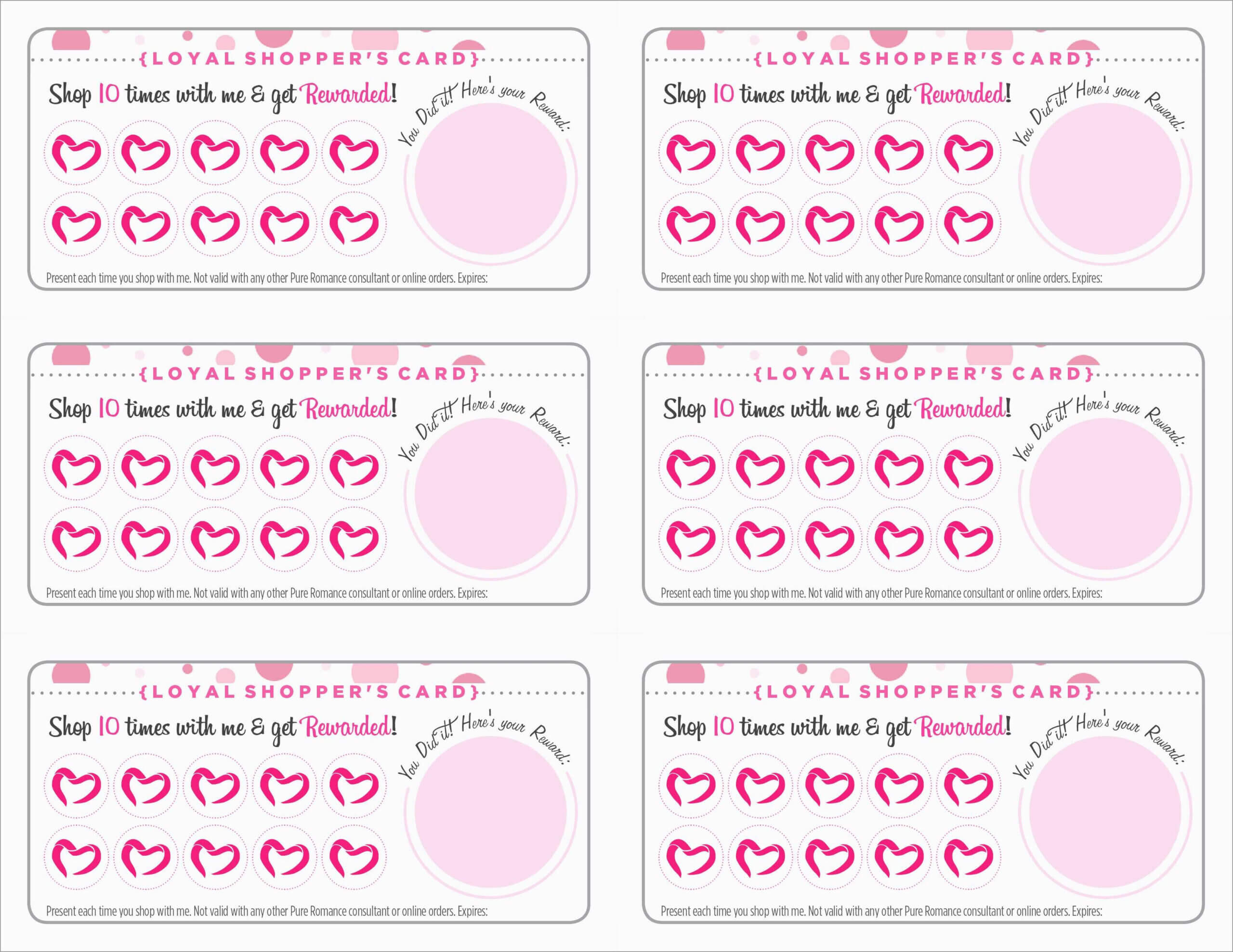 Free Printable Loyalty Card Template - Calep.midnightpig.co Throughout Reward Punch Card Template