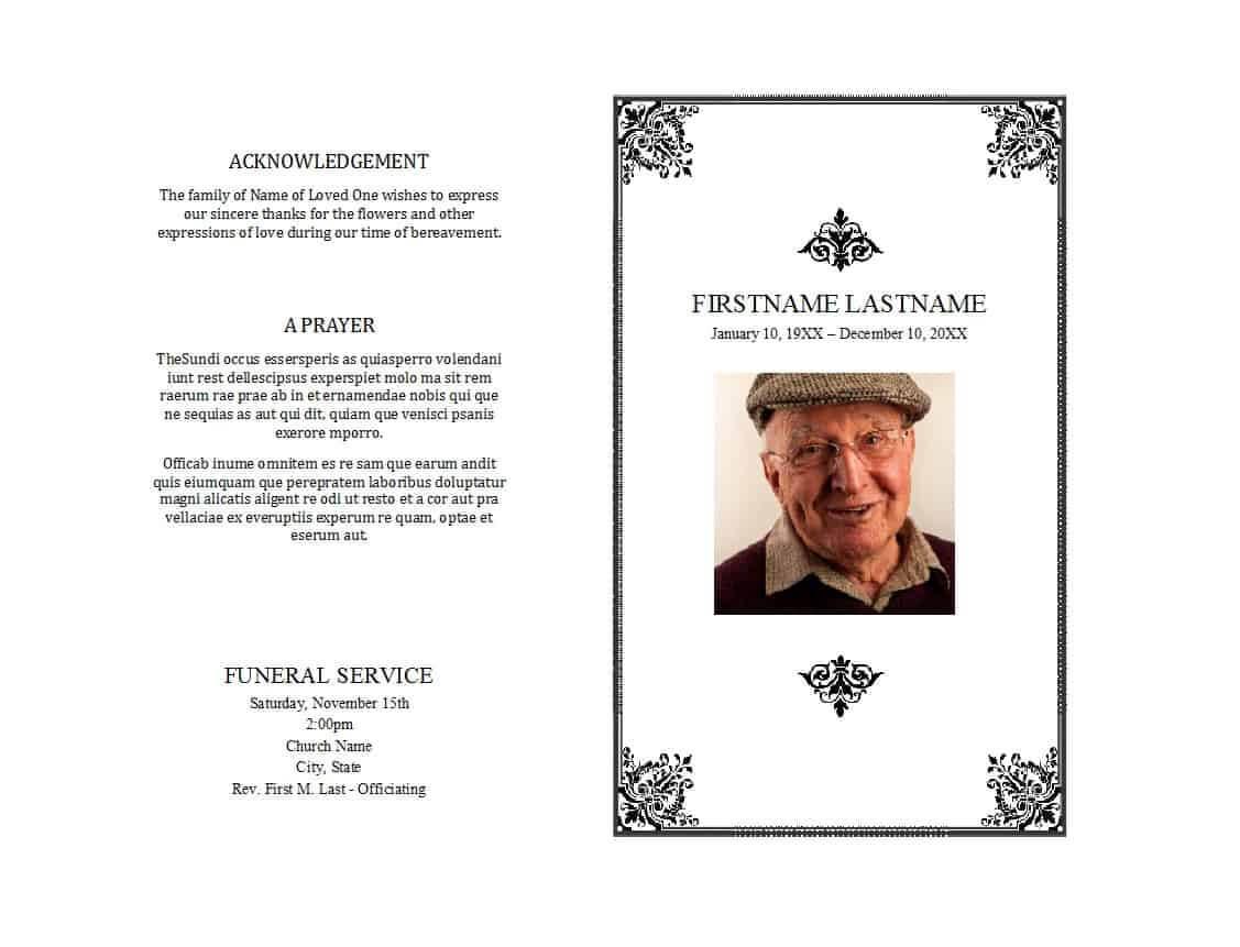 Free Printable Memorial Templates - Dalep.midnightpig.co ...
