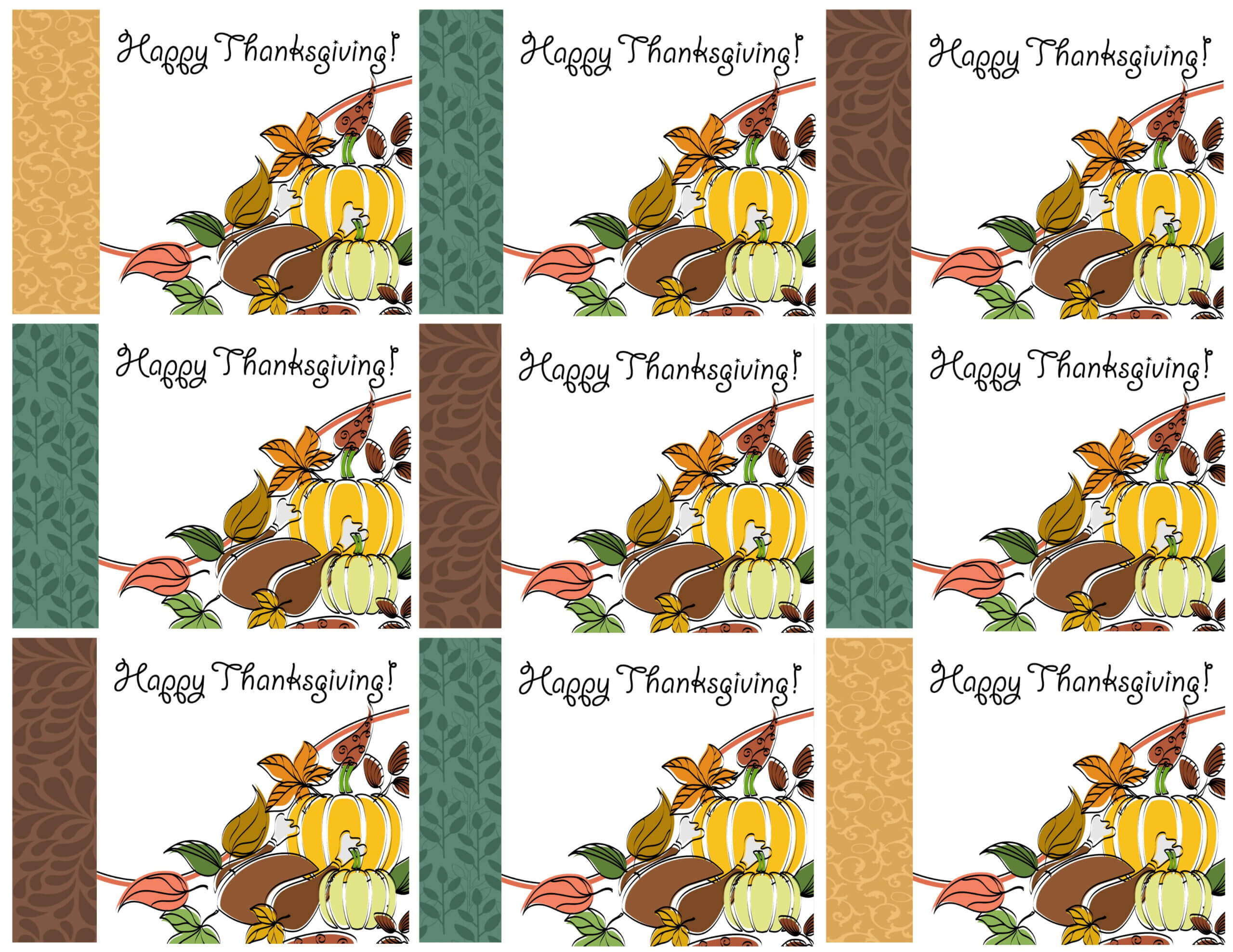 Free Printable Thanksgiving Place Cards — Also Great For In Thanksgiving Place Card Templates
