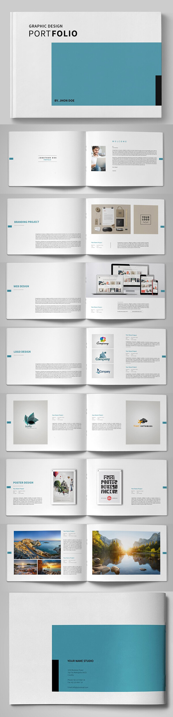 Free Product Brochure Design Templates - Yeppe With Product Brochure Template Free