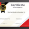 Free Sample Format Of Certificate Of Participation Template In Microsoft Word Certificate Templates