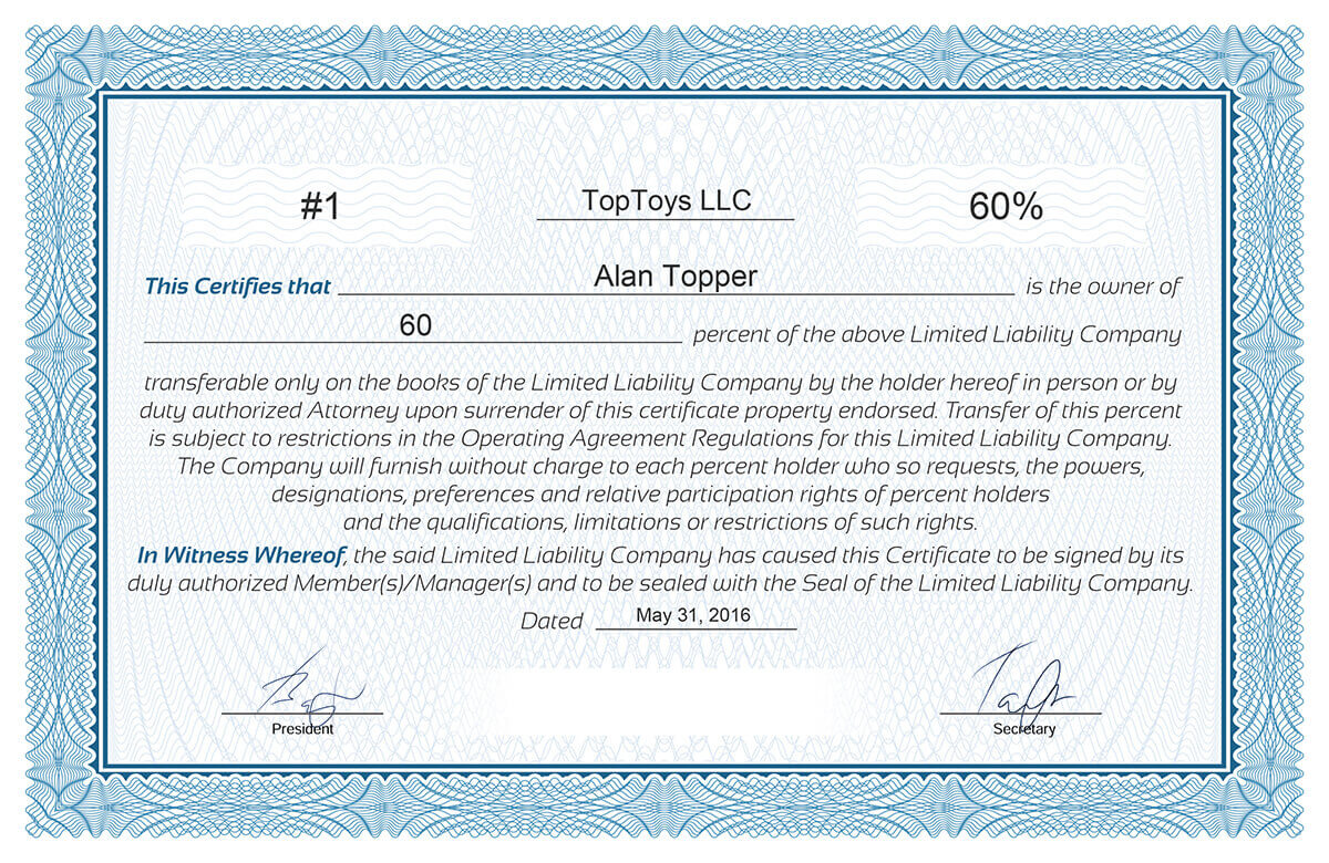 Free Stock Certificate Online Generator Within Corporate Share Certificate Template