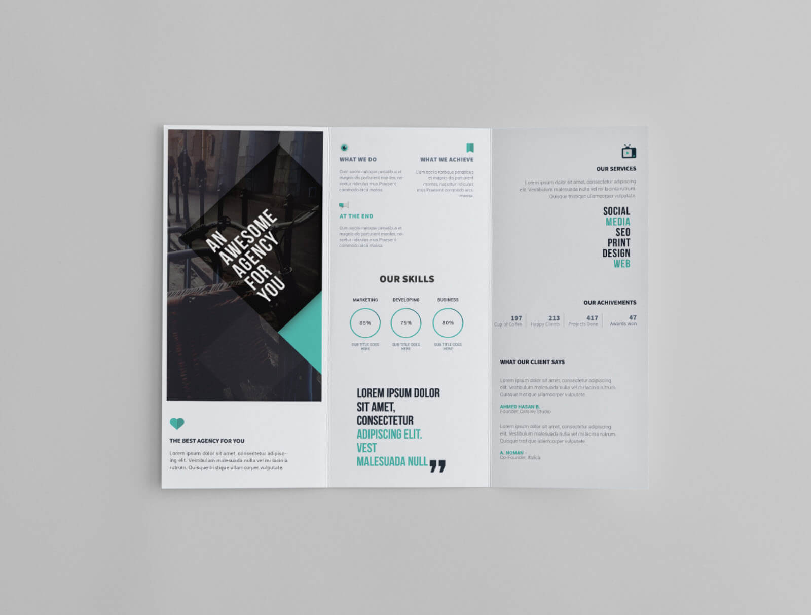 Free Trifold Brochure Template Pertaining To Free Online Tri Fold Brochure Template