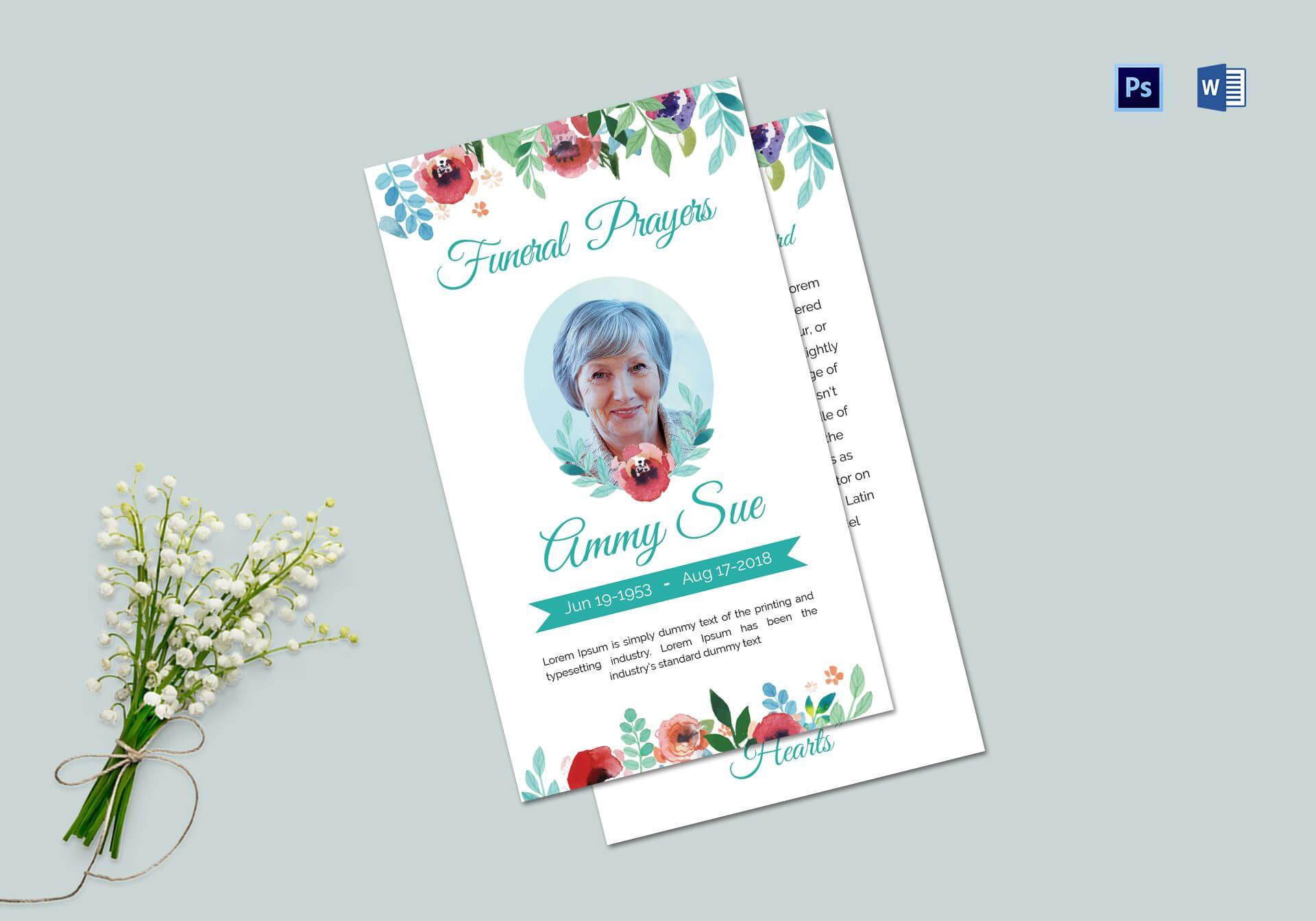 Funeral Family Prayer Card Template Inside Prayer Card Template For Word