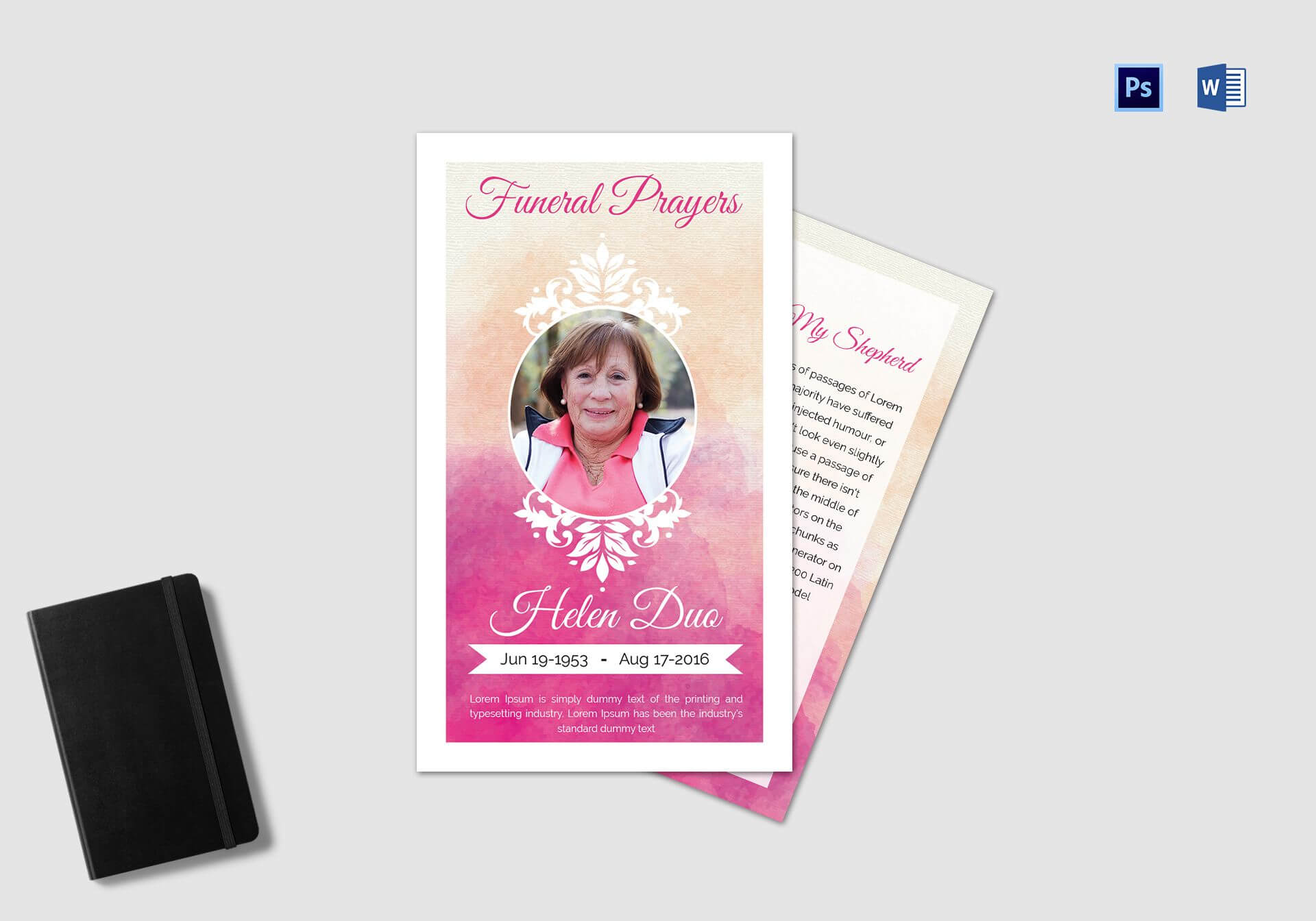 Funeral Prayer Card Template For Grandmother Within Prayer Card Template For Word