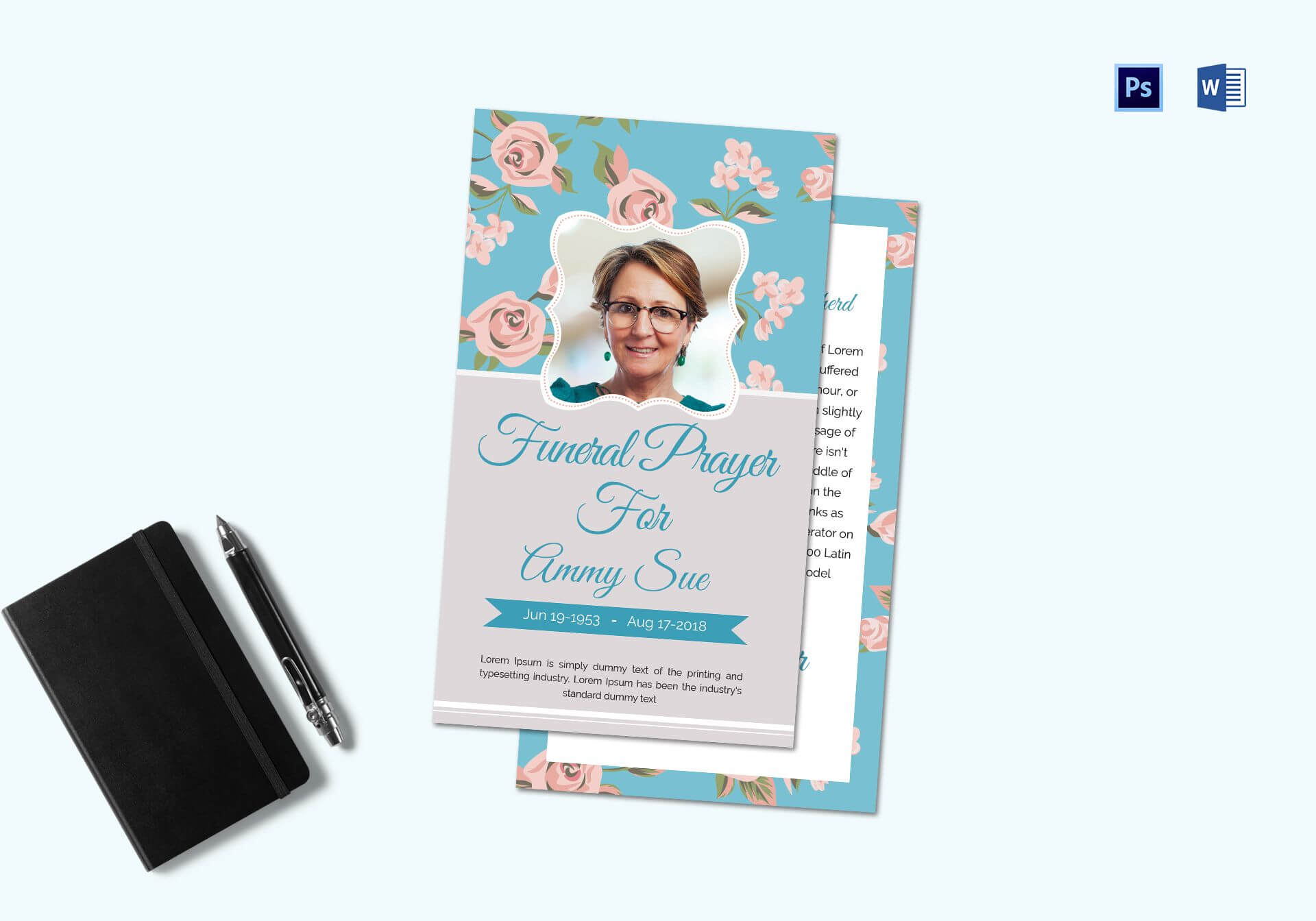 Funeral Request Prayer Card Template For Prayer Card Template For Word