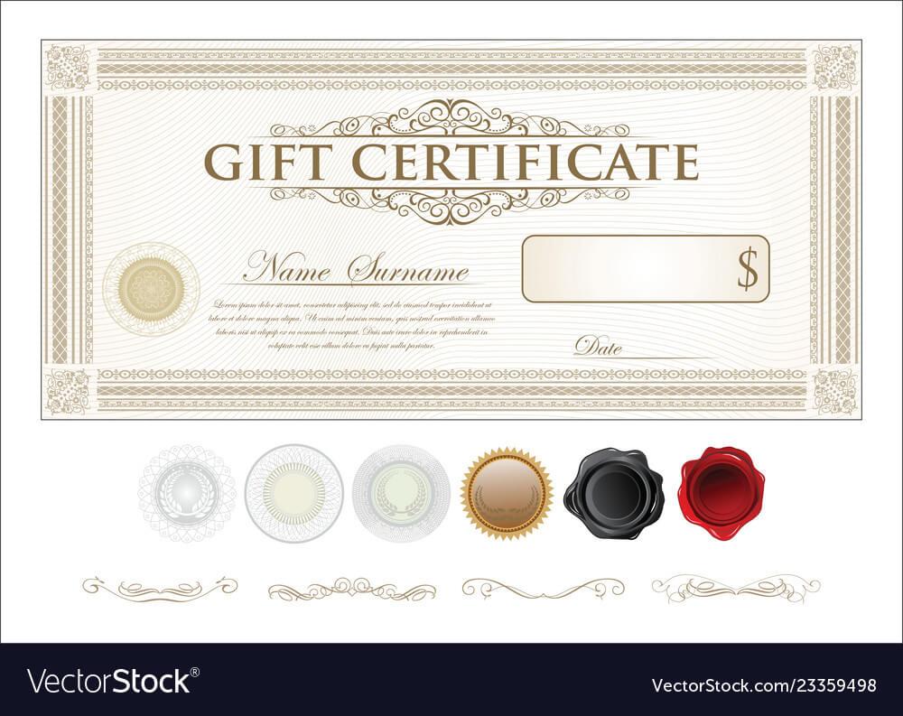 certificate template retro inside sample