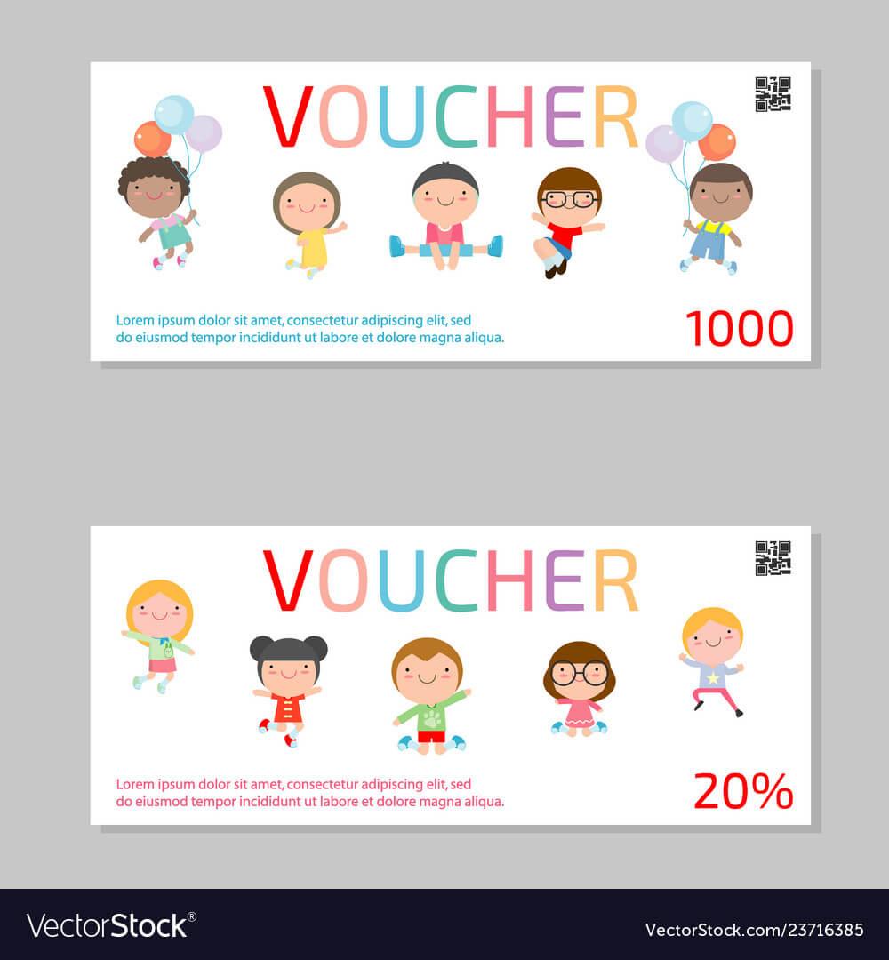 Gift Voucher Template And Kids Voucher Template Inside Kids Gift Certificate Template