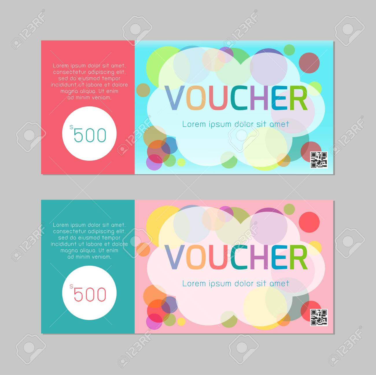 Gift Voucher Template With Colorful Pattern,cute Gift Voucher.. Intended For Kids Gift Certificate Template