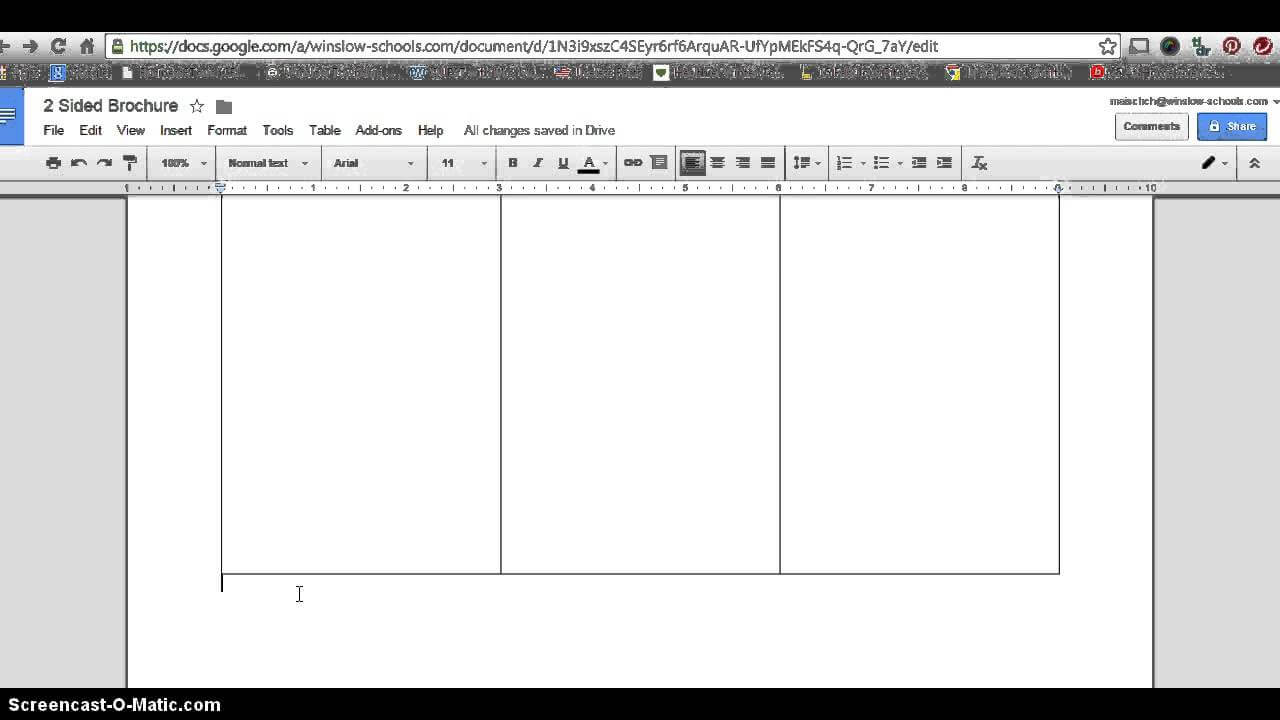 Google Docs Pamphlet Template - Dalep.midnightpig.co With Google Drive Templates Brochure