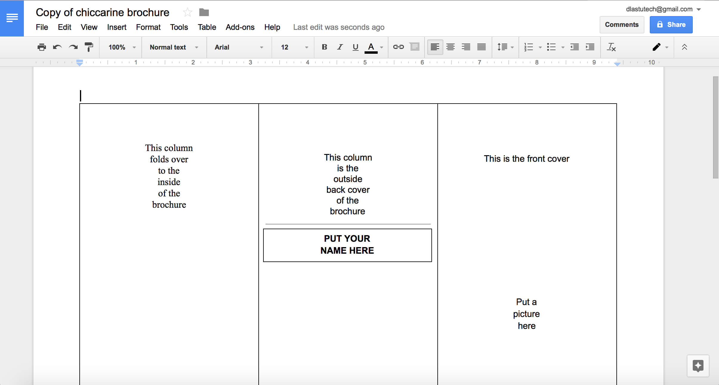 Google Pamphlet - Calep.midnightpig.co Within Brochure Templates For Google Docs